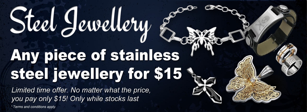 Stainless Steel Jewellery Discount Offer!