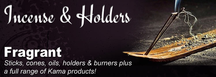 Incense, Oils, Burners, Holders & Kama Products